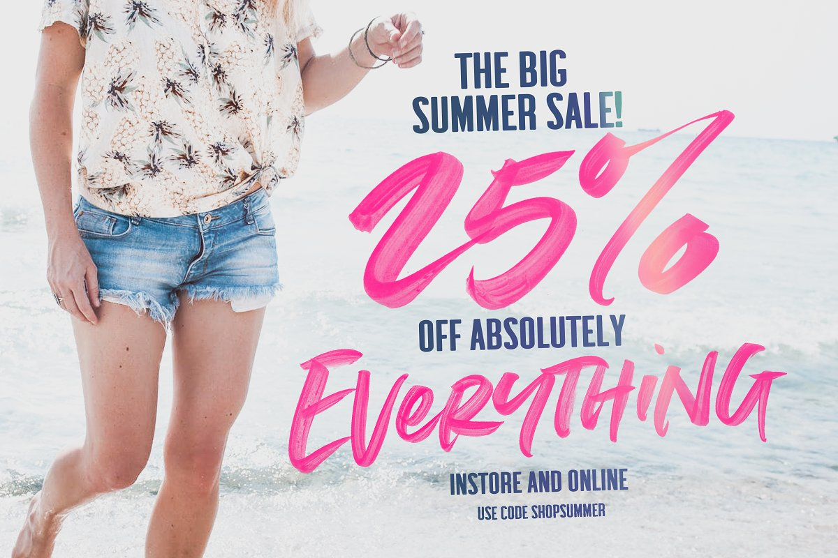Summer Loving Font Collection in Display Fonts - product preview 33