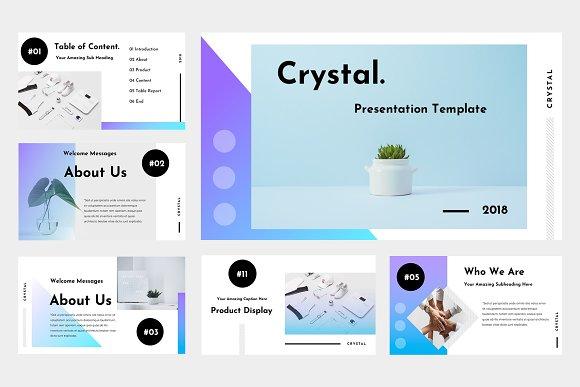 crystal powerpoint template presentation templates creative market