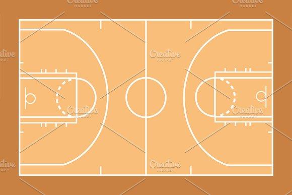 Basketball Court Template Illustrations Creative Market