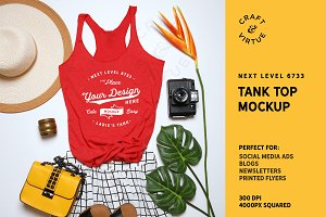 Tank Top Mockup - Next Level 6733
