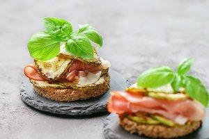 Mini ham  sandwiches
