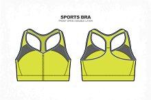 Women Sports Bra Vector Fashion