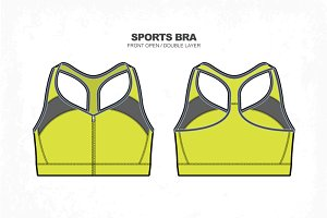 Women Sports Bra Vector Fashion