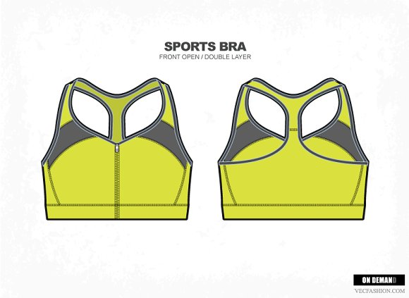 23d897a864 Women Sports Bra Vector Fashion