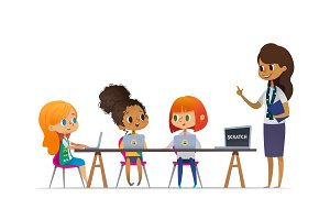 Girl scouts. Coding for children