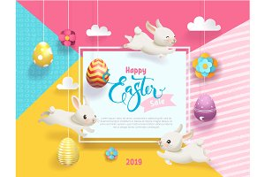 Happy Easter Sale Card