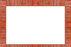 Landscape Background with Wooden Borders