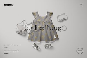 Baby Dress Mockup Set 9