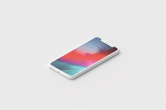 Minimal Clay iPhone X Mockup Set