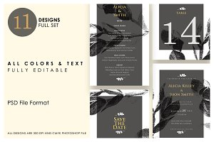 Minimalist Wedding Invitation Ac.7