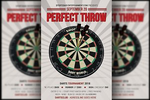 Perfect Throw Darts Flyer