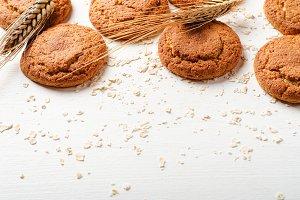 Oatmeal sweet cookies.