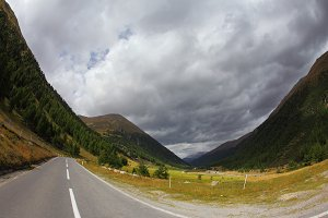 The mountain valley