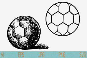 handball ball, set vector svg png