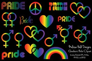 Gradient Rainbow Pride Clipart