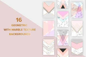 Marble geometric design backgrounds