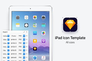 iPad icon template - All sizes