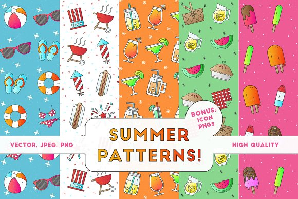 Summer Patterns + Icons