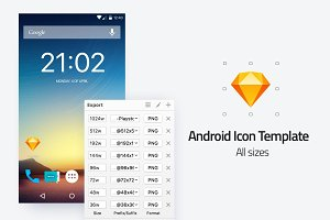 Android icon template - All sizes