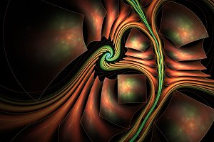 Surreal abstract fractal