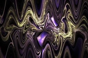 Surreal wavy fractal