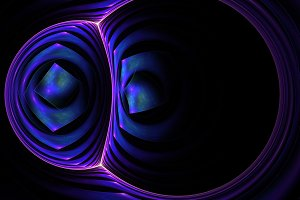 Rounded abstract fractal