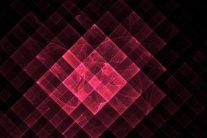 Red geometric fractal