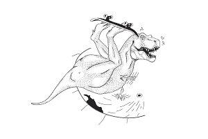 Sk8Ter-rex vector
