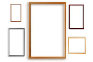 photo frame texture sets isolated on white background