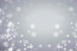abstract grey background with blur white snow.