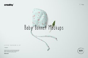 Baby Bonnet Mockup Set