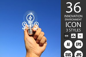 Innovation Environment icons