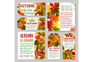 Autumn label and Thanksgiving Day gift tag set