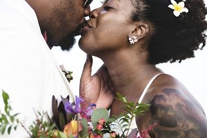 African American couple marriage
