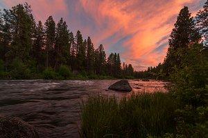 Sunset at the Deschutes River
