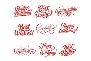 Congratulations lettering for greeting card design