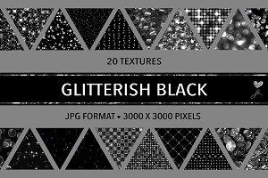 Glitterish Black