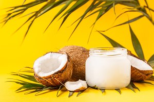 Coconut oil and coconuts