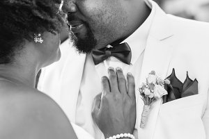 African couple getting married