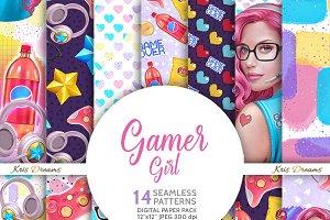 Gamer Girl Digital Paper