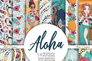 Aloha Lilo Digital Paper