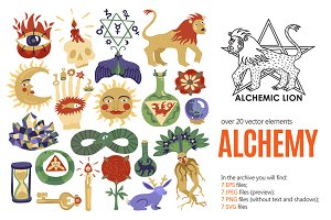 Alchemic Symbols Set