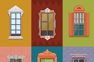 Colorful Windows Flat Collection