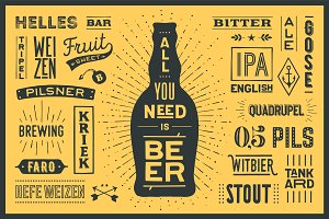 Poster All You Need Is Beer