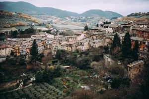 Spoleto city in Umbria, Italy