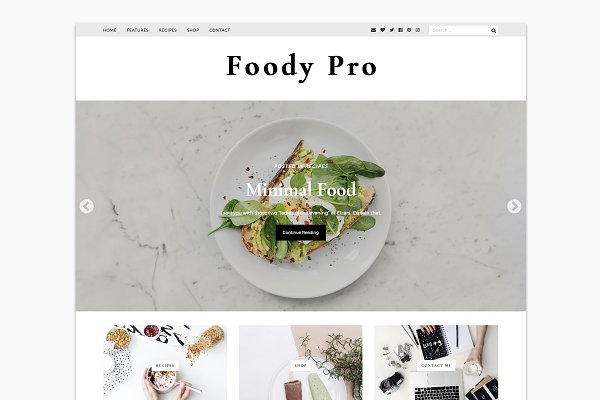 WordPress Blog Themes: Pasquale (PanKogut) - Foody Pro - WordPress Food Blogger