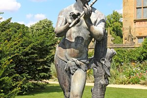 Musician Statue at Hardwick Hall