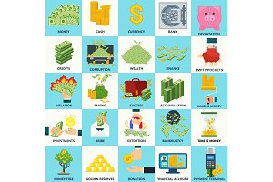 money_set_icons_concept