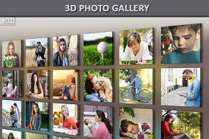 3d Photo Gallery Mock-Up