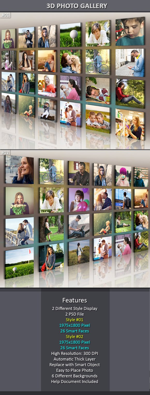 Download 3d Photo Gallery Mock-Up